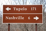 Signs to Tupelo and Nashville