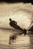 Water Skier Splashing on a Turn