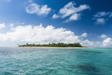 Little Island with a White Sand Beach in Haapai  Haapai Islands  Tonga  South Pacific  Pacific