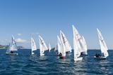 Sailboats Participating in Regatta  Ibiza  Balearic Islands  Spain  Mediterranean  Europe