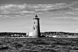 Whaleback Lighthouse Maine Black and White Art Print Poster