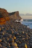 Sunset  Es Codolar Boulder Beach  Ibiza  Balearic Islands  Spain  Mediterranean  Europe