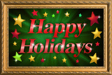 Happy Holidays Faux Framed Poster