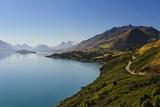 Turquoise Water of Lake Wakaipu  around Queenstown  South Island  New Zealand
