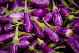 Baby Eggplants Fresh Produce Photo Poster Print