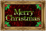 Merry Christmas Faux Framed Holiday Poster