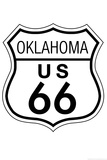 Oklahoma Route 66 Sign Art Poster Print
