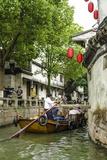 Chinese Gondola in the Water Village of Tongli  Jiangsu  China  Asia
