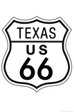Texas Route 66 Sign Art Poster Print