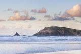 Trevose Head at Sunset  Seen from Boobys Bay (Boobies Bay)  Cornwall  England