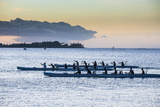 Evening Rowing in the Bay of Apia  Upolu  Samoa  South Pacific  Pacific