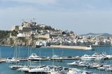 Cranes at Ibiza Castle and View of the Boats  Ibiza Port  Dalt Vila