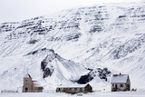Remote Church and Farm Buildings in Snow-Covered Winter Landscape  Snaefellsness Peninsula  Iceland