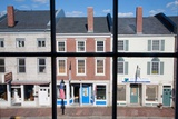 Storefronts Line Water Street in Hallowell  Maine