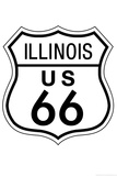 Illinois Route 66 Sign Art Poster Print