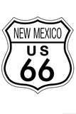 New Mexico Route 66 Sign Art Poster Print