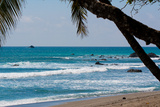 Costa Rica Waves Breaking on Beach Photo Poster Print