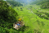 Cargo Lift Transporting People across the Hapao Rice Terraces  Banaue  Luzon  Philippines