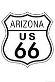 Arizona Route 66 Sign Art Poster Print