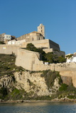 View of Ibiza Old Town and Dalt Vila  Ibiza  Balearic Islands  Spain  Mediterranean  Europe