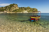 Excursion Boat Moored on Pretty Isola Bella Bay in This Popular Northeast Tourist Town