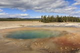 Colourful Pool  Midway Geyser Basin  Yellowstone National Park  Wyoming  Usa