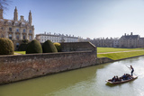 A View of Kings College from the Backs with Punting in the Foreground  Cambridge  Cambridgeshire