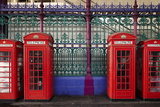 London Red Phone Boxes  Smithfield Market  London  England  United Kingdom  Europe