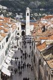 View Down Stradun  UNESCO World Heritage Site  Dubrovnik  Croatia  Europe