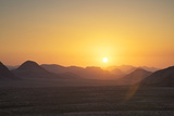 Sunset  Wadi Rum  Jordan  Middle East