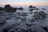 Rocks and Sea Stacks in the Surf at Dawn  Ecola State Park  Oregon  Usa