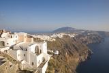 View Along Volcanic Cliffs Towards Distant Fira  Imerovigli  Santorini (Thira) (Thera)