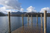 Lake Derwentwater and the Northern Fells  View from the Boat Landings at Keswick  North Lakeland