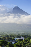 View from the Daraga Church over Volacano Mount Mayon  Legaspi  Southern Luzon  Philippines