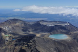 Aerial of the Colourful Tama Lakes in the Tongariro National Park  North Island  New Zealand
