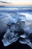 Jokulsa Beach at Sunrise  on the Edge of the Vatnajokull National Park  South Iceland