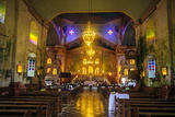 Church Service in the Colonial Spanish Baclayon Church in Bohol  Philippines  Southeast Asia  Asia