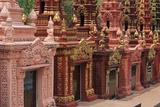 Cemetery in Wat Krom Temple  Sihanoukville Port  Sihanouk Province  Cambodia  Indochina