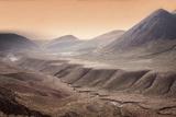 High Altitude Atacama Desert Landscape Near Tatio Geyser Field at Sunset  Chile  South America
