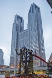 Metropolitan Government Building  Tocho  Shinjuku  Tokyo  Honshu  Japan  Asia