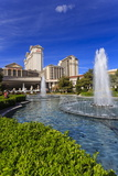 Green Space at Caesars  Garden and Fountains at Caesars Palace Hotel  Las Vegas  Nevada  Usa