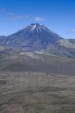 Aerial of Mount Ngauruhoe  Tongariro National Park  North Island  New Zealand  Pacific