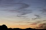 Wispy Clouds at Sunset  White Pocket  Vermilion Cliffs National Monument  Arizona  Usa