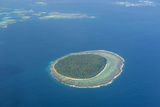 Aerial Photo of a Little Island in Tonga  South Pacific  Pacific