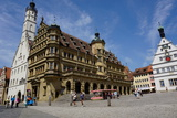 The Double Town Hall in the Market Square in Rothenburg Ob Der Tauber  Romantic Road  Franconia