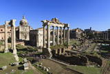 Elevated View of the Columns of the Temples of Saturn and Vespasian with Santi Luca E Martina