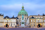Amalienborg Palace at Dawn  Copenhagen  Denmark  Scandinavia  Europe