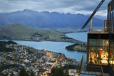 Skyline Restaurant with Lake Wakatipu and the Remarkables at Dusk  Queenstown  Otago