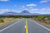 Road Leading to Mount Ngauruhoe  Tongariro National Park  North Island  New Zealand  Pacific