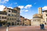 Piazza Vasari (Piazza Grande)  Arezzo  Tuscany  Italy  Europe
